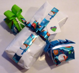 gift wrap not stylish paper and no bow